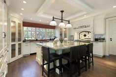 Kitchen with large center island, Matthews Elite Properties