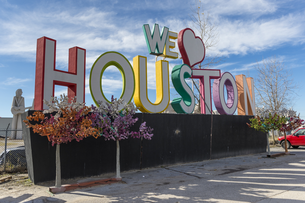 We Love Houston Sign, Matthews Elite Properties